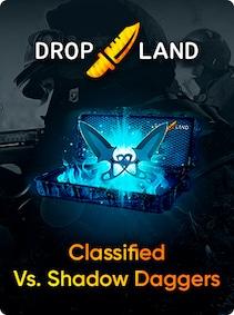 Counter-Strike: Global Offensive RANDOM BY DROPLAND.NET GLOBAL Code CLASSIFIED VS. SHADOW DAGGERS KNIFE SKIN