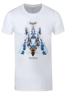 "Image of Men's Horizon Zero Dawn Dinosaur Mech White Tshirt / Extra Large (Mens 42"" to 44"")"
