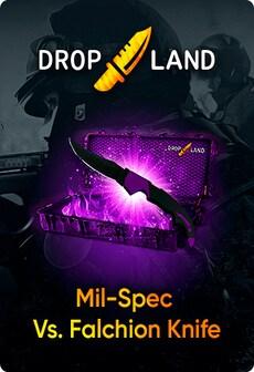 Counter-Strike: Global Offensive RANDOM BY DROPLAND.NET GLOBAL Code MIL-SPEC VS. FALCHION KNIFE SKIN