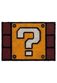 Image of Super Mario Question Mark Block Door Mat 40 x 60cm