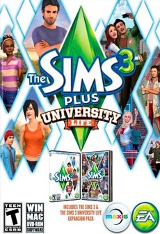 The Sims 3 Plus University Life STEAM CD-KEY GLOBAL PC