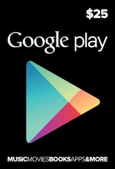 Image of Google Play Gift Card 25 USD NORTH AMERICA
