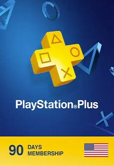 Playstation Plus CARD 90 Days - PSN - UNITED STATES
