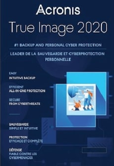 Acronis True Image Backup Software 2020 PC, Android, Mac, iOS - (3 Devices, Lifetime) - Acronis Key GLOBAL