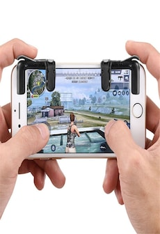 Image of Phone Gamepad Trigger Fire Button Aim Key Joystick Smartphone Gaming L1R1 Shooter Controller