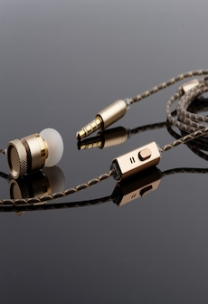 Image of [REYTID] In-Ear Earphones Headphones - HD Sound, Heavy DEEP Bass w/ MIC for iPhone / Android - Gold Gold