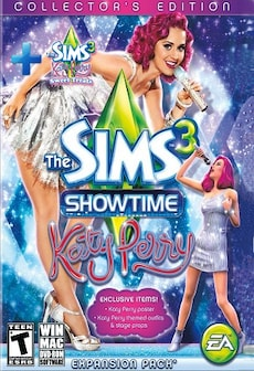 The Sims 3 Showtime Katy Perry Collector's Edition + Sweet Treats Stuff Pack DLC ORIGIN CD-KEY GLOBAL PC