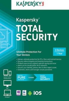 Kaspersky Total Security Multi-Device 3 Devices 1 Year Kaspersky Key