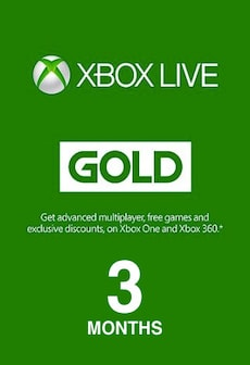 Xbox Live GOLD Subscription Card 3 Months Xbox Live GLOBAL