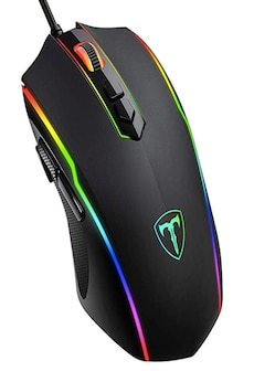 Image of Gaming Mouse Wired, PICTEK 8 Programmable Buttons, Chroma RGB Backlit, 7200 DPI Adjustable