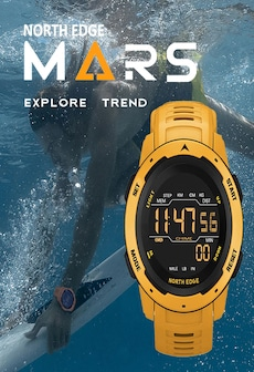 Image of Mars Men Digital Watch Men's Military Sport Watches Waterproof 50M Pedometer Calories Stopwatch Hourly Alarm Clock Yellow