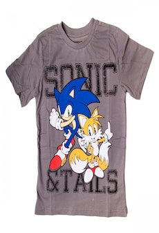 Image of SONIC: Sonic and Tails Kids' T-shirt 152-158 cm Gray