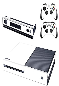 Image of [REYTID] Xbox One Console Skin / Sticker + 2 x Controller Decals & Kinect Wrap - White XBOX ONE White