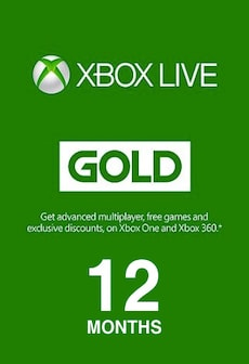 Image of Xbox Live GOLD Subscription Card XBOX LIVE GLOBAL 12 Months