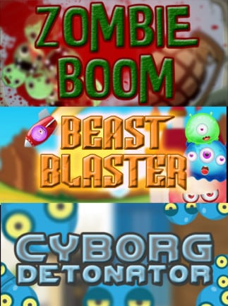 Zombie Boom + Beast Blaster + Cyborg Detonator Steam Key GLOBAL