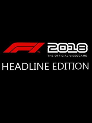 F1 2018 Headline Edition Steam Key GLOBAL