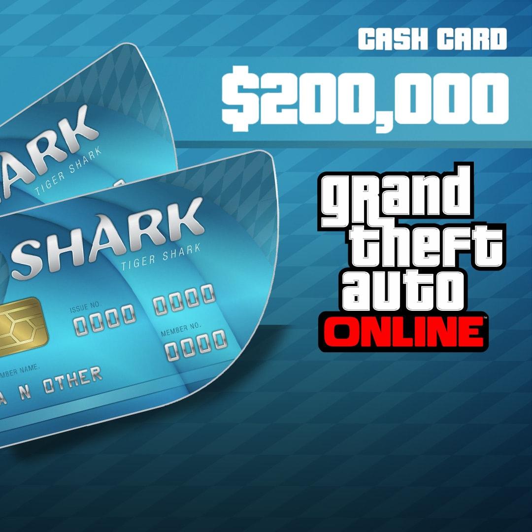 Grand Theft Auto Online: Tiger Shark Cash Card 200 000 PC Rockstar Key GLOBAL