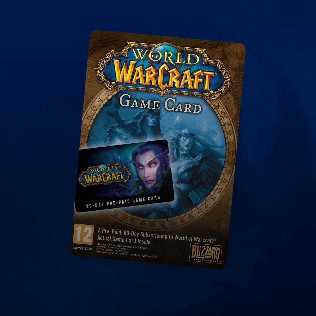 World of Warcraft Time Card 30 Days Battle.net EUROPE