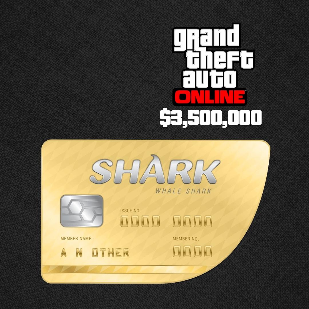 Grand Theft Auto Online: The Whale Shark Cash Card 3 500 000 Rockstar Key  GLOBAL PC