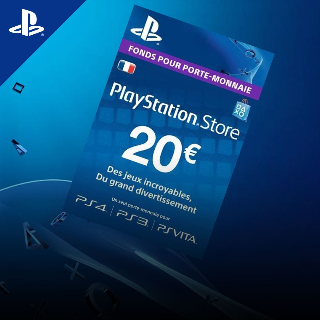code promo prix plus bas avec vente chaude pas cher PlayStation Network Gift Card 20 EUR PSN FRANCE