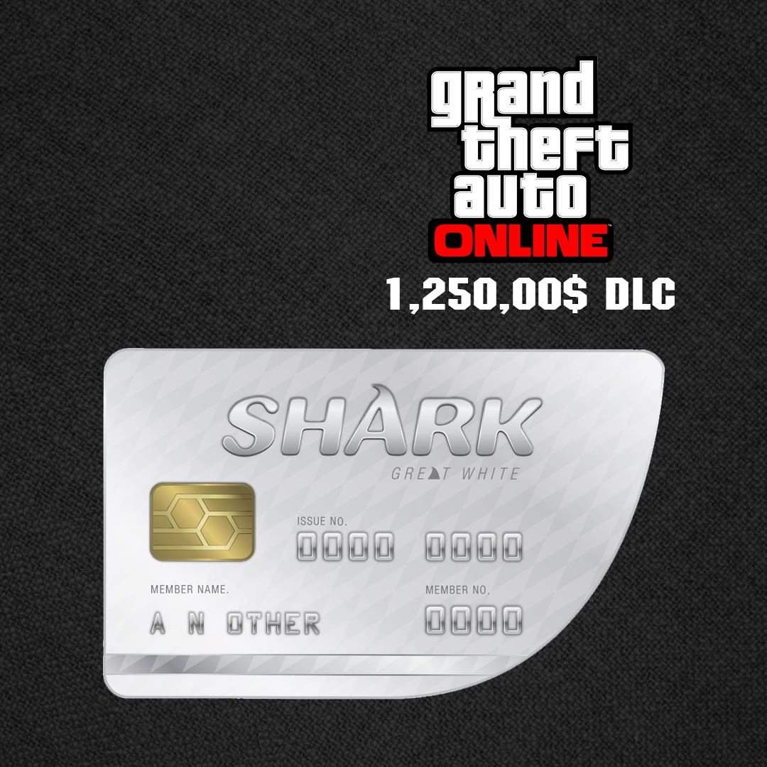 Grand Theft Auto Online: Great White Shark Cash Card 1 250 000 Rockstar Key  GLOBAL PC