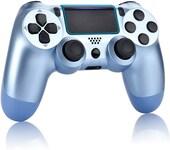 Newest PS4 Controller Dual Shock 4th Bluetooth Wireless Gamepad Joystick Remote Titanium Blue