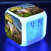 Fortnite Game Figures Color Changing Night Light Alarm Clock Kids Toy Gift