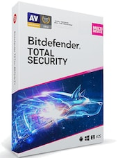 Bitdefender Total Security (5 Devices, 1 Year) - PC, Android, Mac, iOS - Key GLOBAL