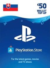PlayStation Network Gift Card 50 EUR - PSN Key - SLOVAKIA