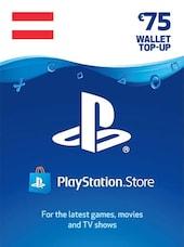 PlayStation Network Gift Card 75 EUR - PSN AUSTRIA