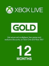 Xbox Live GOLD Subscription Card 12 Months Xbox Live - Key GERMANY