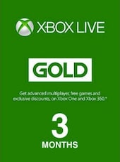 Xbox Live GOLD Subscription Card 3 Months - Xbox Live Code - MEXICO