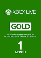 Xbox Live GOLD Subscription Card 1 Month Xbox Live EUROPE