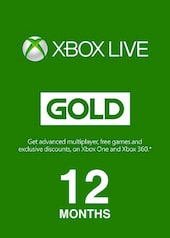 Xbox Live GOLD Subscription Card 12 Months - Xbox Live Key - GLOBAL