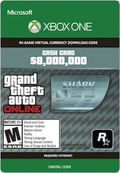 Grand Theft Auto Online: Megalodon Shark Cash Card 8 000 000 Xbox Live Key GLOBAL