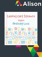 Strand 4 Ordinary Level Algebra Alison Course GLOBAL - Digital Certificate
