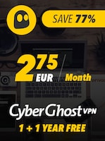 Cyberghost VPN Premium 2 Years Key GLOBAL