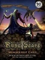 RuneScape Membership Timecard EUROPE 90 Days