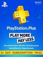 Playstation Plus Trial CARD PSN NORTH AMERICA 30 Days