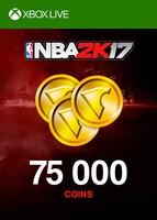 NBA 2K17 Virtual Currency XBOX LIVE GLOBAL 75 000 Coins Key