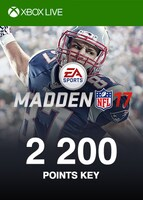 Madden NFL 17 Points XBOX LIVE GLOBAL 2 200 Points Key