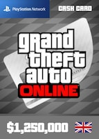 Grand Theft Auto Online: Great White Shark Cash Card PSN UNITED KINGDOM 1 250 000 USD Key PS4