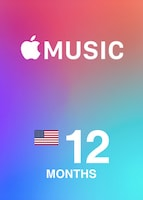 Apple Music Membership NORTH AMERICA 12 Months Key