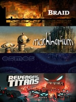 Braid + Machinarium + Osmos + Revenge of The Titans Steam Key GLOBAL