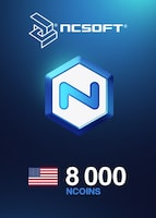 8000 NCoins NCSoft NORTH AMERICA Code
