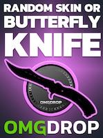 Counter-Strike: Global Offensive RANDOM SKIN OR BUTTERFLY KNIFE CASE CODE BY OMGDROP.COM