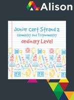 Junior Certificate Strand 2 - Ordinary Level - Geometry and Trigonometry Alison Course GLOBAL - Digital Certificate