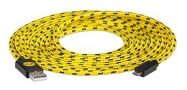 snakebyte uniwersalny kabel ładujący USB - MicroUSB (3m) Mesh licencja BVB Borussia Dortmund