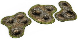 2D terrain - Craters for Warhammer and other miniature games D&D