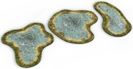 2D terrain - Pond for Warhammer and other miniature games D&D